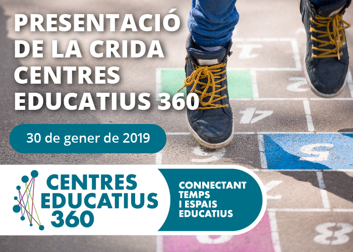 Vine a la presentació de la Crida Centres Educatius 360!