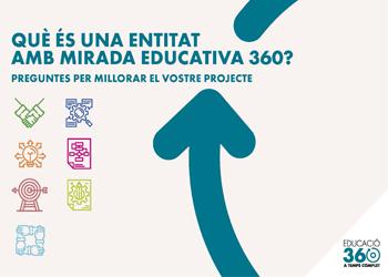 Sou una entitat amb mirada educativa 360? Participeu a la convocatòria d'ajuts de la Diputació de Barcelona!